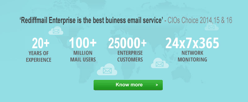 Rediff Enterprise is the best business email service